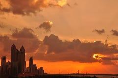 Abu Dhabiwesthimmel Stockfotos