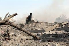 Abu khadra废墟 免版税库存图片