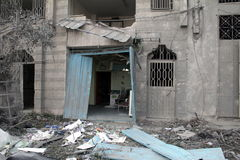 Abu khadra Ruinen lizenzfreies stockfoto
