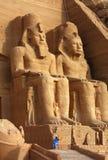 Abu Simbel寺庙在埃及 库存照片