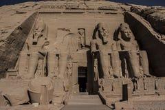 Abu Simbel寺庙在埃及 免版税库存图片