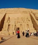 Abu Simbel寺庙,埃及 免版税库存照片