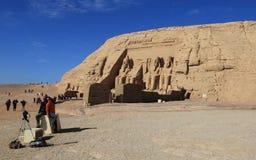 Abu Simbel寺庙 库存照片