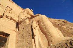 Abu Simbel寺庙 免版税库存图片