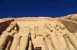 Abu Simbel寺庙 免版税库存照片