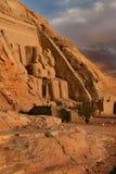 Abu Simbel,埃及。 古老埃及法老王Rameses第2 库存照片