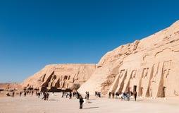 Abu Simbel à la frontière de l'Egypte et du Soudan Images stock