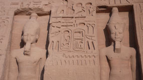 Abu Simbel. Ägypten Lizenzfreie Stockfotografie