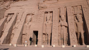 Abu Simbel. Ägypten Stockbilder