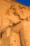 Abu Simbel, Ägypten Stockbild