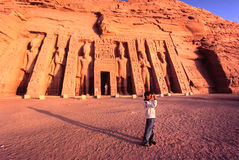 Abu Simbel, Ägypten. Lizenzfreie Stockbilder