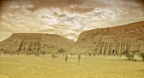 Abu Simbel in Ägypten. Tonfotografischer film Lizenzfreie Stockfotografie