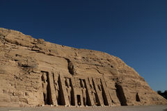 Abu Simbel świątynia w Egipt Obraz Royalty Free