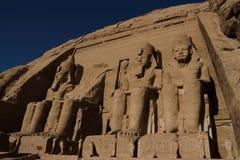 Abu Simbel świątynia w Egipt Obrazy Stock