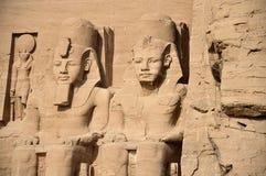 Abu Simbel świątynie, Antyczny Południowy Egipt obraz stock