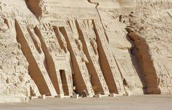 Abu Simbel świątynie w Egipt Zdjęcie Stock