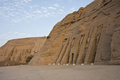 Abu Simbel. The temple of Abu Simbel in the Nubian Desert in Egypt Stock Image