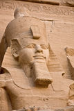 Abu Simbel. The temple of Abu Simbel in the Nubian Desert in Egypt Stock Images