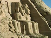 Abu Simbel. Close view of the gigantic statues of Abu Simbel stock images