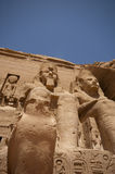 Abu Simbel. Temple built by Ramses II Royalty Free Stock Photo