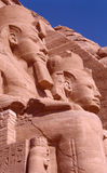 Abu Simbel. Ramses II statues at the entrance of Abu Simbel Temple Royalty Free Stock Photo