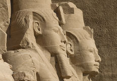 Abu Simbel. Statues in the temple of Abu Simbel stock photos
