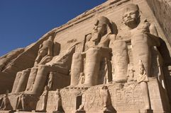Abu Simbel, Ancient Egypt, Travel Destination Stock Photo
