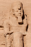 Abu Simbel auf der Grenze von Ägypten und von Sudan Stockbilder
