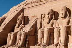 Abu Simbel auf der Grenze von Ägypten und von Sudan Lizenzfreie Stockbilder
