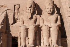 Abu Simbel auf der Grenze von Ägypten und von Sudan Lizenzfreies Stockfoto