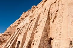 Abu Simbel auf der Grenze von Ägypten und von Sudan Stockfoto