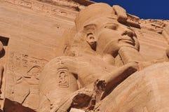 Abu Simbel auf der Grenze von Ägypten und von Sudan Lizenzfreie Stockfotos