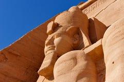 Abu Simbel auf der Grenze von Ägypten und von Sudan Lizenzfreie Stockfotografie