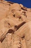 Abu Simbel auf der Grenze von Ägypten und von Sudan Stockfotos