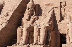 Abu Simbel auf der Grenze von Ägypten und von Sudan Lizenzfreies Stockbild