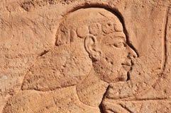 Abu Simbel auf der Grenze von Ägypten und von Sudan Stockbild