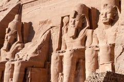 Abu Simbel on the border of Egypt and Sudan Stock Images