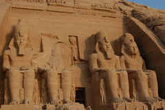 Abu Simbel colossus Royalty Free Stock Photos