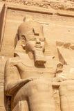 Abu Simbel colossus Stock Image