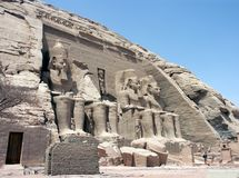 Abu Simbel, Egypt. Statues of Ramses The Great at Abu Simbel, Egypt Royalty Free Stock Image