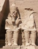 Abu Simbel, Egypt. Statues of Ramses The Great at Abu Simbel, Egypt Stock Photo