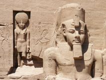 Abu Simbel, Egypt. Statues of Ramses The Great at Abu Simbel, Egypt stock images