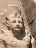 Abu Simbel, Egypt. Statues of Ramses The Great at Abu Simbel, Egypt Stock Image