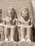 Abu Simbel, Egypt. Statues of Ramses The Great at Abu Simbel, Egypt Royalty Free Stock Photos