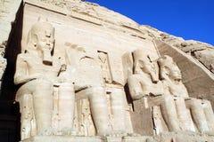 Abu Simbel, Egypt. Temple of King Ramses II in Abu Simbel, Egypt Royalty Free Stock Images