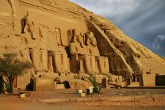 Abu Simbel, Egypt. Ancient Egyptian Pharaoh Rameses the 2nd Stock Image