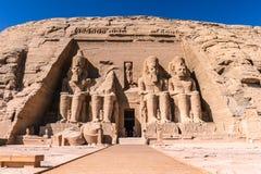 Abu Simbel, Egypt. The Great Temple of Ramesses II, Abu Simbel, Egypt Royalty Free Stock Photos