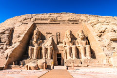 Abu Simbel, Egypt. The Great Temple of Ramesses II, Abu Simbel, Egypt Stock Photo