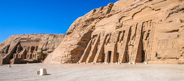 Abu Simbel, Egypt. Small Temple of Nefertari, Abu Simbel, Egypt royalty free stock photo