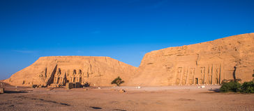 Abu Simbel, Egypt. Abu Simbel temples on sunrise, Abu Simbel, Egypt. UNESCO World Heritage stock image